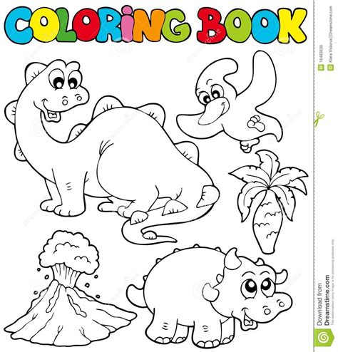 coloring book 2 dinosaurs coloring book with dinosaurs 2 stock vector image 16483636
