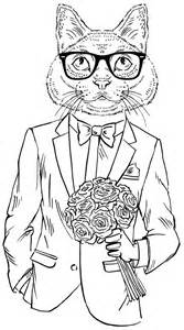 hipster cat coloring pages coloring pages