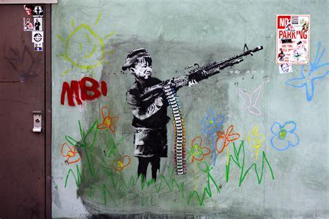 students locals express support  brit street artist