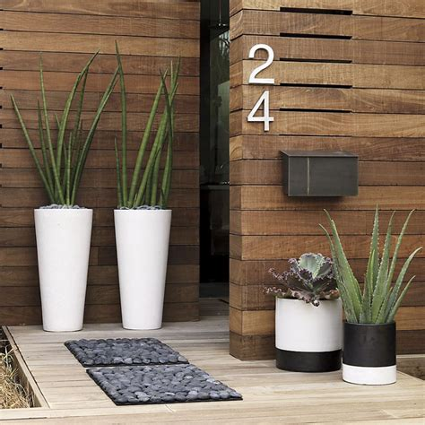 Cb2 Planters by The Of Decorating A Front Entrance