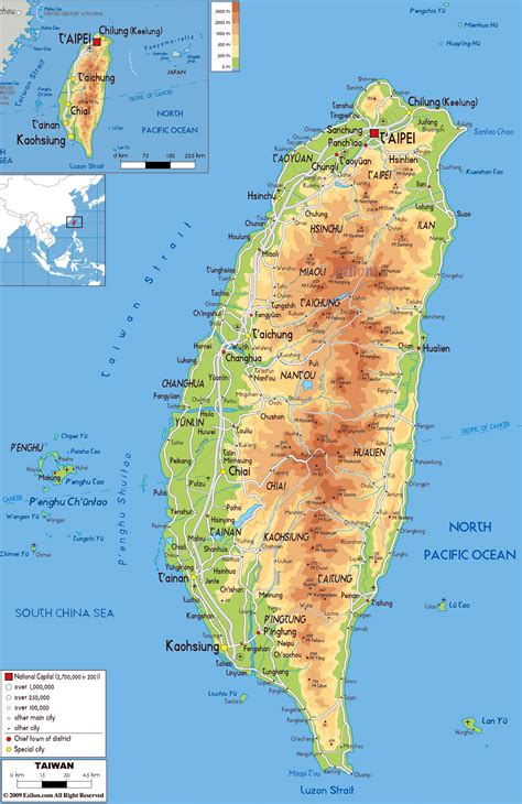 printable map taiwan maps of taiwan detailed map of taiwan in english