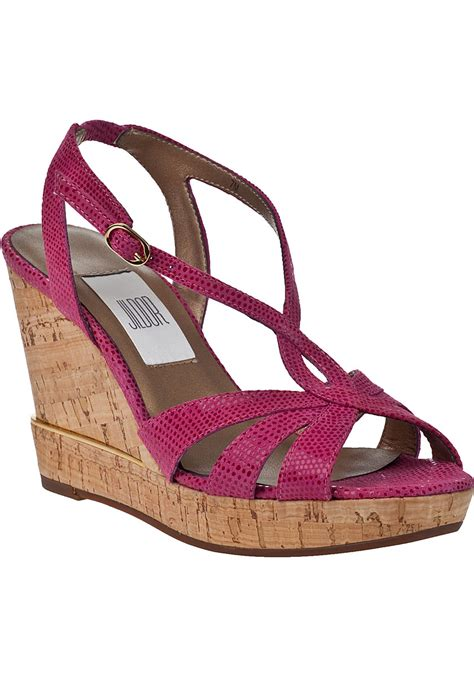 fuschia sandals vaneli for jildor delisa wedge sandal fuschia lizard in