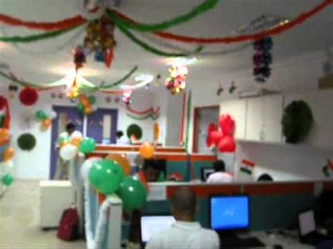 15 August Independence Day Decoration by Independence Day Celebration At Chennai Office Of One97