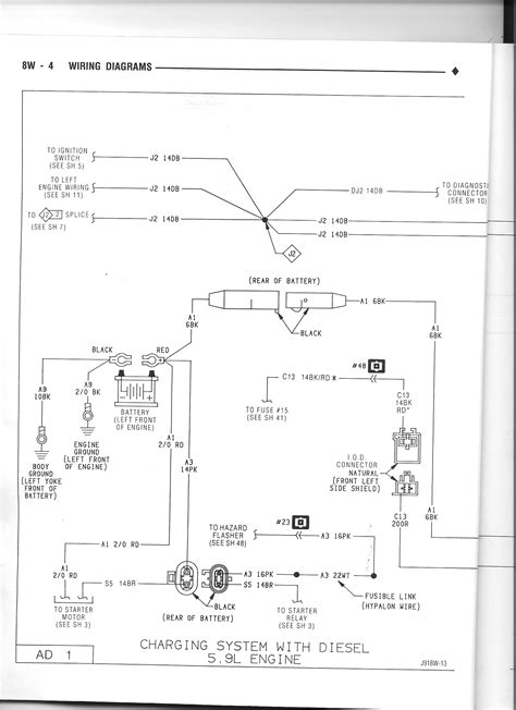 alternator wiring diagram for a dodge ram 2500 alternator