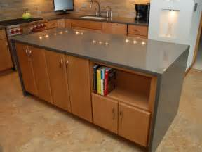 Contemporary Kitchen with Waterfall Countertop