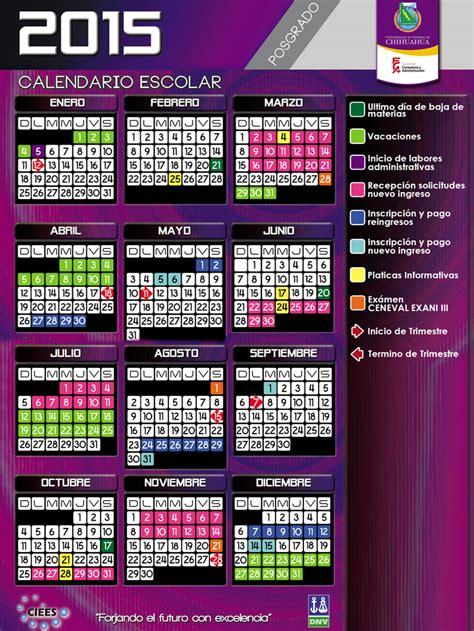 C2015 Calendar C2015 Posgrado Fca