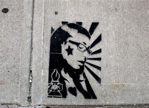 stencil graffiti street graphics the simple street art stencil cut to the truth brooklyn street art