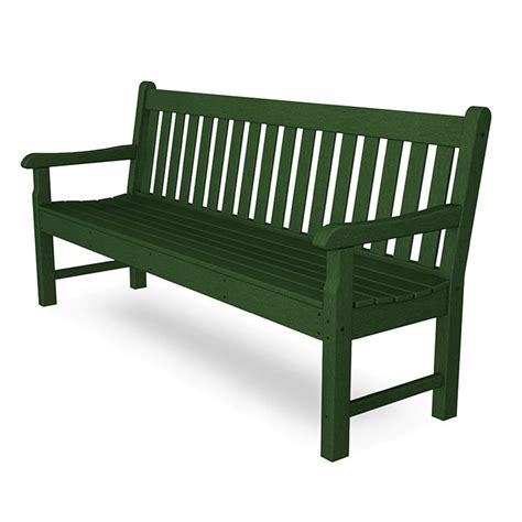 outdoor park bench large polywood rockford 72 inch bench commercial quality