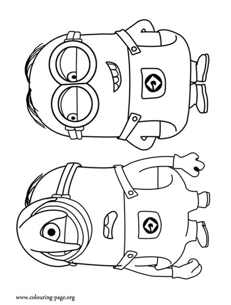 despicable me the minions stuart and dave coloring page