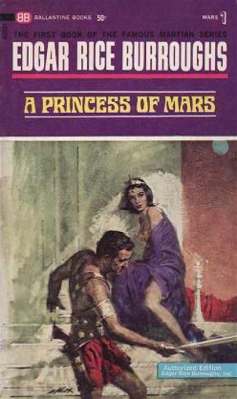 a princess of mars books ballantine book covers