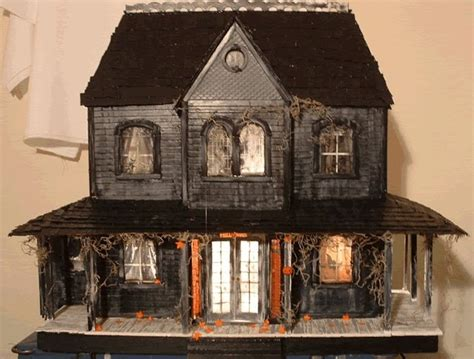 halloween doll house what s bubbling at cauldron craft miniatures haunted dollhouse video gallery by