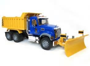 bruder trucks bruder mack granite dump truck w blade 02825 by bruder