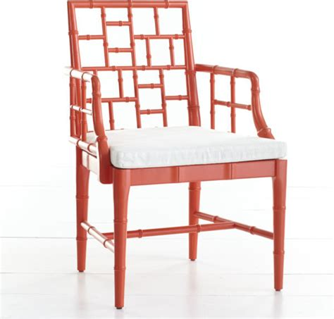 chinese chippendale chair poppy red asian armchairs  accent chairs  wisteria