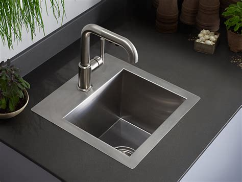 bar sink k 3840 1 vault bar sink with single faucet kohler