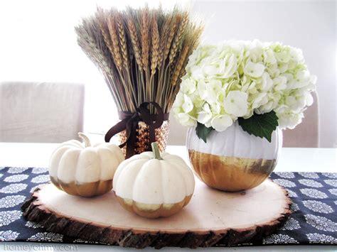 gold pumpkin centerpieces diy gold dipped pumpkin vase homey oh my