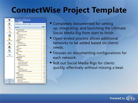 Connectwise North East User Group Usmr Connectwise Project Templates