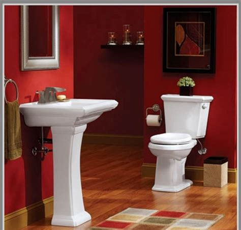 Paint Ideas For A Small Bathroom | delightful small bathroom paint color ideas throughout red
