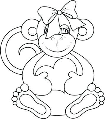 girl monkey coloring page fine baby girl monkey coloring pages pattern exle