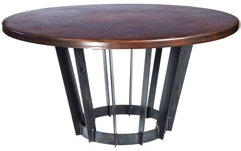 dining table with 48 brown hammered