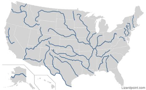 interactive map of us rivers us rivers map click quiz by zeconman2