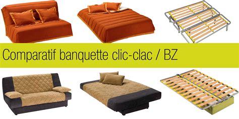 lit clic clac but comparatif banquette clic clac et bz