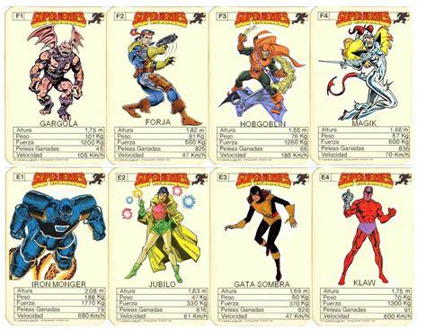 imagenes retro super heroes cartas marvel 80s superheroes las de cromy y muchas mas