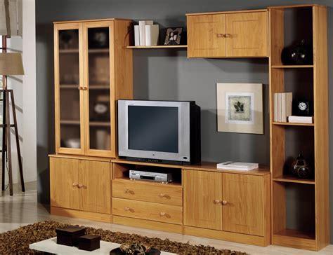 muebles de salon comedor en madera de pino color miel