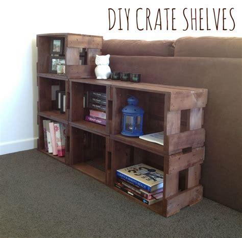 crate shelves diy diy crate shelves via happy kiwi quot popular pins