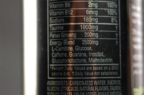 q energy drink ingredients energy drink labels images