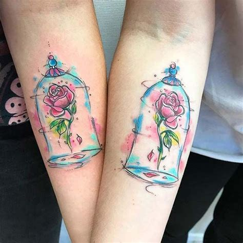 beauty and the beast tattoo designs 23 and creative small disney ideas
