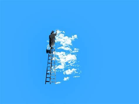 Clouds landscapes minimalistic nature paintings wallpaper