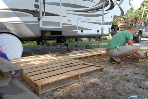 Temporary Deck by How To Build A Portable Deck For Rv Outdoorscart