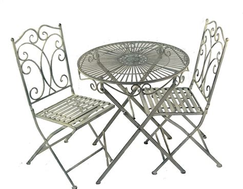 Metal Bistro Table And Chairs Metal Shabby Chic Bistro Set Garden Table And Chairs Set Furniture Set Patio Set Ebay