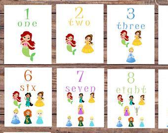 princess alphabet flash cards printable number flash cards etsy