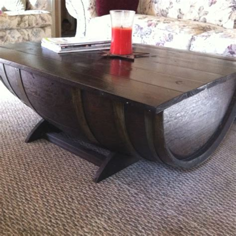 whiskey barrel coffee table whiskey barrel coffee table for the home