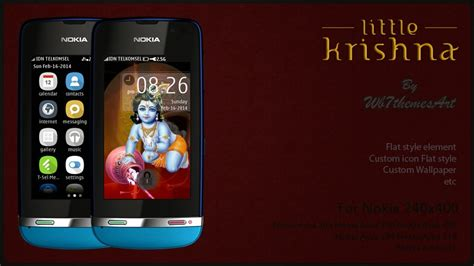 nokia asha 305 god themes little krishna theme asha 305 310 full touch asha 305