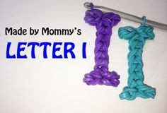 Loom Letter M by Rainbow Loom Letter M Charm Using Just The Hook Diy And