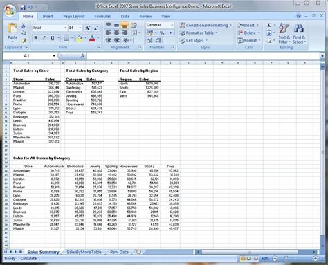 Microsoft Excel 2007 microsoft office excel 2007 business intelligence demo