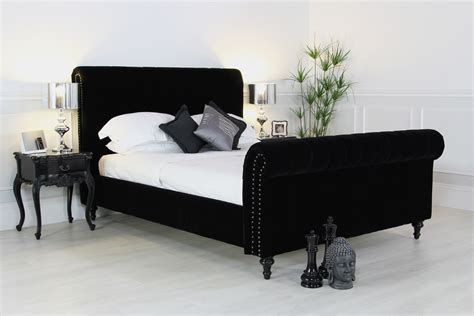 velvet king bed velvet sleigh bed royale sleigh bed frame crushed velvet fabric chesterfield