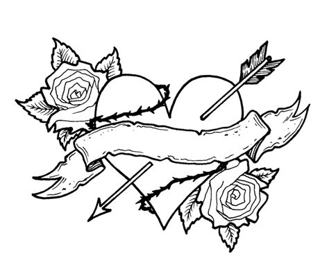 coloring pages of hearts and roses coloring pages of roses and hearts az coloring pages