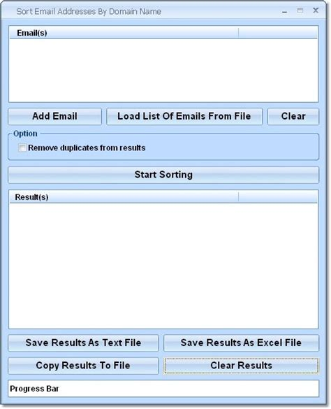 Search For Email Addresses By Domain Alphabetical Order Sorter Software Copy In Order Sort Email Addresses By