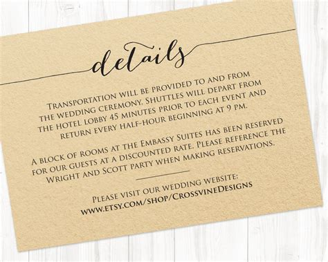 Wedding Detail Card Template Free by Details Card Template 183 Wedding Templates And Printables