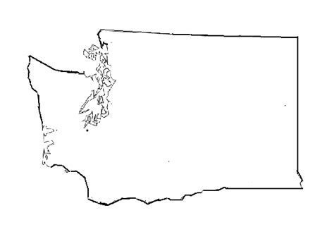 Blank Outline Map Of Washington State by Washington State Map Outline Printable Images