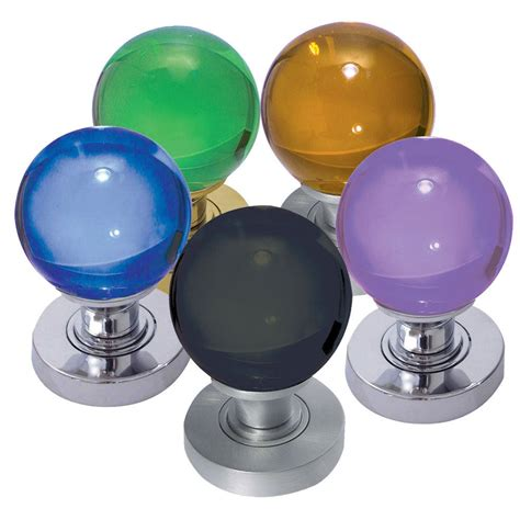 Coloured Glass Door Knobs by Coloured Glass Mortice Knobs Interior Glass Knobs