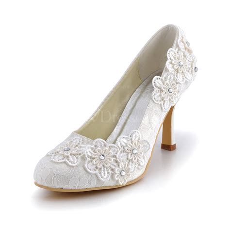 Offene Hochzeitsschuhe by Kitten Heel Wedding Shoes Closed Toe Lace Office