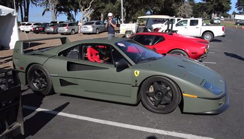 matte green ferrari sights and sounds matte green ferrari f40