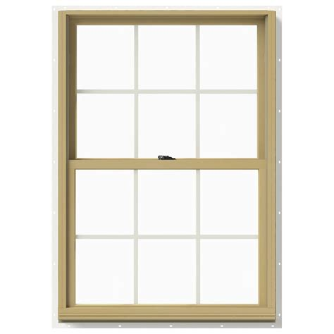 Jeld Wen Aluminum Clad Wood Windows Decor Jeld Wen 33 375 In X 48 In W 2500 Hung Aluminum Clad Wood Window Thdjw177200500 The