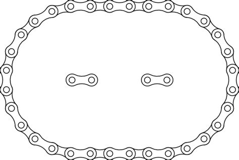 Bike Chain Outline by 1 C Bike Chain Clip At Clker Vector Clip Royalty Free Domain