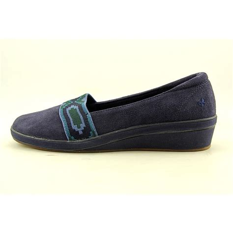 grasshoppers maize womens size 10 blue wide fabric loafers