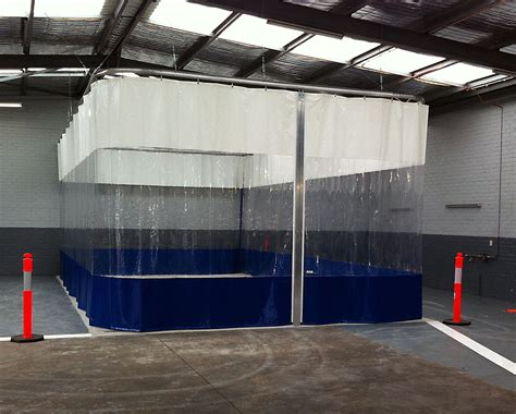 Wash Bay Curtains and Screens, Preparation Areas, PVC